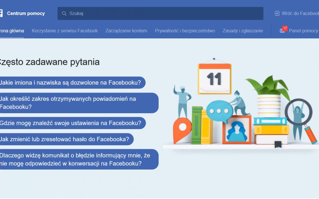 Facebook Kontakt – czyli jak skontaktować się z Facebookiem