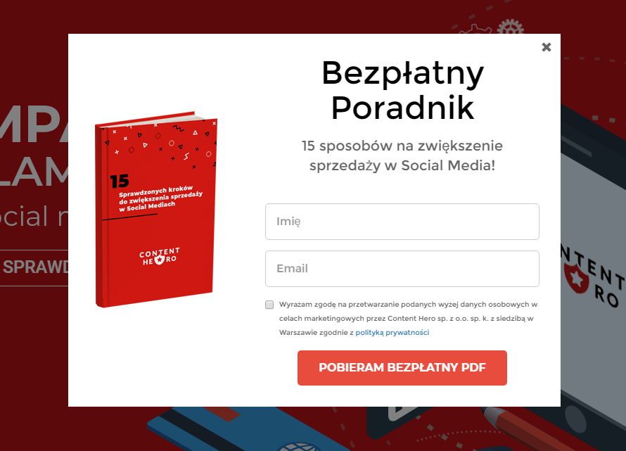 Pop up w marketingu – poradnik